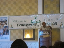 Mr. Cordell Thompson spoke about sustainability on Exuma.